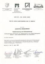 Zertifikat - Stadterneuerung und Althaussanierung