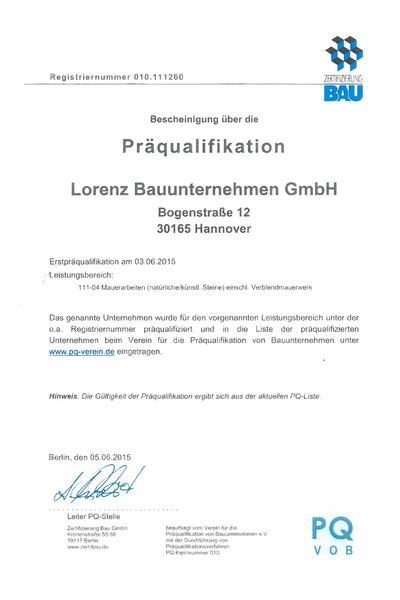 Präqualifikation 2015